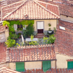 Terrace, Lucca, Italy