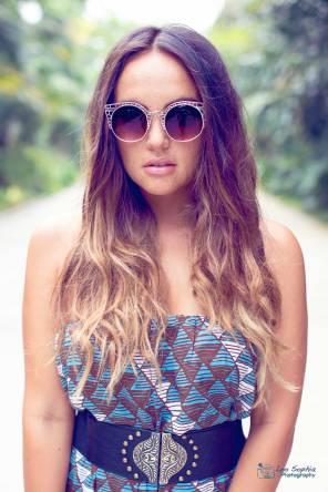 Model: Claudia Conaglen, hair and makeup: Reyna Hearts