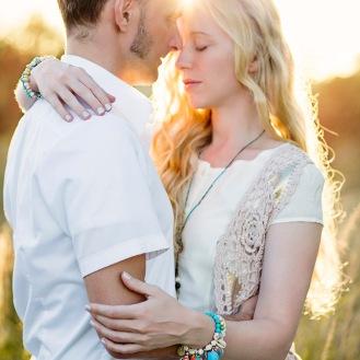 Summer sunset couple shooting