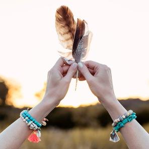 Summer sunset hippie shooting